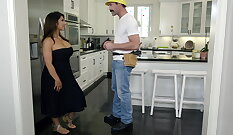 Cowgirl milf style with horny guy