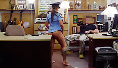 Babe pleasures a police officer with passion