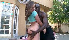 Casey Crush - Big White Dick and Ebony Ass