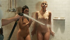 Blonde babe sucks dong and gets humiliated