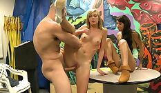 Blonde teen fucked hard for cash BBC in exchange for pussy