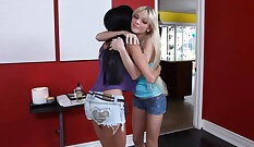 Lesbo massage with Becky Rizzo
