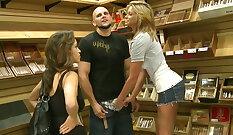 Amazing blondie fucks and sucks cock for money