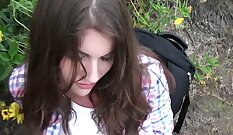Cute and Hairy Teen Forest - Uma branle masterbation
